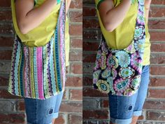 Reversible sling tote - super easy and good size for school books