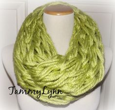 Chunky Arm Knitted Monteray LIME GREEN by tammylynnscreations, $18.00