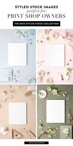 Styled stock photography for print designers! | Stock images featuring smart objects for easily adding your print designs | Print stock photos from the SC Stockshop and MaeMae Co!