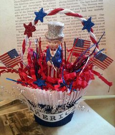 Vintage-Inspired Uncle Sam Candy Cup