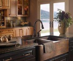 Unique Farmhouse Sink Ideas For Kitchen 17 Shelves Over Kitchen Sink, Over Kitchen Sink Lighting, Under Kitchen Sinks, Country Kitchen Sink, Kitchen Sink Window, Best Kitchen Faucets, Double Kitchen Sink, Kitchen Shelf Decor, Kitchen Sink Design