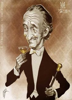 David Niven caricature by Marzio Mariani #Celebrity #Caricatures #Oddonkey