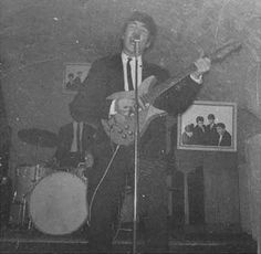 * The Beatles! * John Lennon. The Cavern Club, Liverpool. Late June 1962.