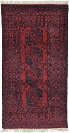 Red 3 x 3 Afghan Akhche Rug Small Rugs, Runners, Area Rugs, Red, Decor, Hallways, Rugs, Decoration, Joggers