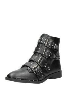 Schwarze Lackstiefel mit Aussparungen Stiefel Schuhe