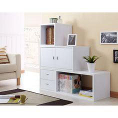 Allure Modular Storage Cabinet in White (Set of 4 ) | Overstock.com