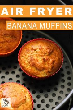 I love using my air fryer for baking in the summer! These Air Fryer Banana Muffins are absolutely delicious and so easy to make. One bowl, everyday ingredients and they are ready in just 20 minutes. Air Fryer Recipes Appetizers, Air Fryer Recipes Snacks, Air Fryer Recipes Low Carb, Air Fryer Recipes Breakfast, Air Fry Recipes, Oven Recipes, Healthy Dessert Recipes, Baby Food Recipes, Airfryer Breakfast Recipes