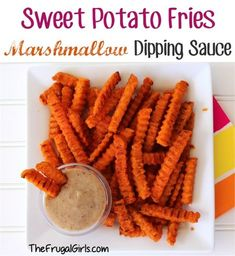 Marshmallow Dipping Sauce for Sweet Potato Fries! ~ from TheFrugalGirls.com {it's ooey and gooey, and kind of tastes like a churro! It's SO yummy!} #recipes #thefrugalgirls