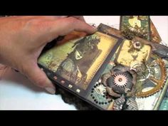 Scrapbooking Graphic 45 Steampunk Debutante Mini Album (BlueMoon DT Project).m4v - Click image to find more hot Pinterest videos