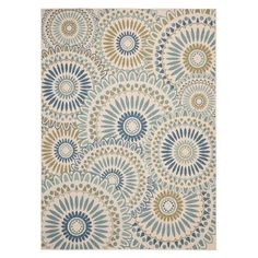 Anchor your patio seating group or dining table in classic style with this artfully loomed indoor/outdoor rug, showcasing an overlapping medallion motif for ...