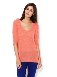 The Backfield Cashmere Scoopneck Sweater by Line at Gilt
