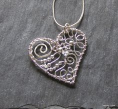 Sterling Wire Heart | JewelryLessons.com
