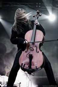 """The band is called """"Apocolyptica"""". Rock music played on Cellos. INSANE!"""