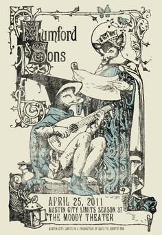 Mumford & Sons Austin City Limits Poster by Jared Connor
