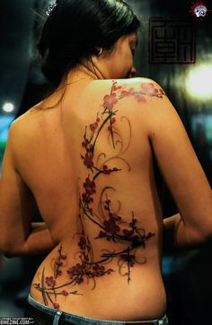 """BME: Tattoo, Piercing and Body Modification News » Floral Tattoos"""