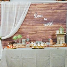 Rentable backdrop that can be used behind any table or for that perfect picture for your guests