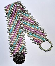 Superduo peyote bracelet