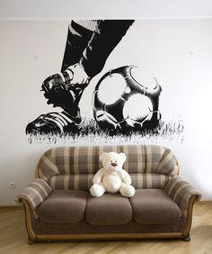 Vinyl Wall Decal Sticker Soccer Feet #5074 | Stickerbrand wall art decals, wall graphics and wall murals.