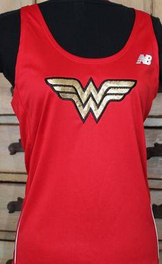 Wonder Woman New Balance racerback tech tank OR by suestevepat