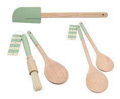 Set de cocina, verde - 5 piezas
