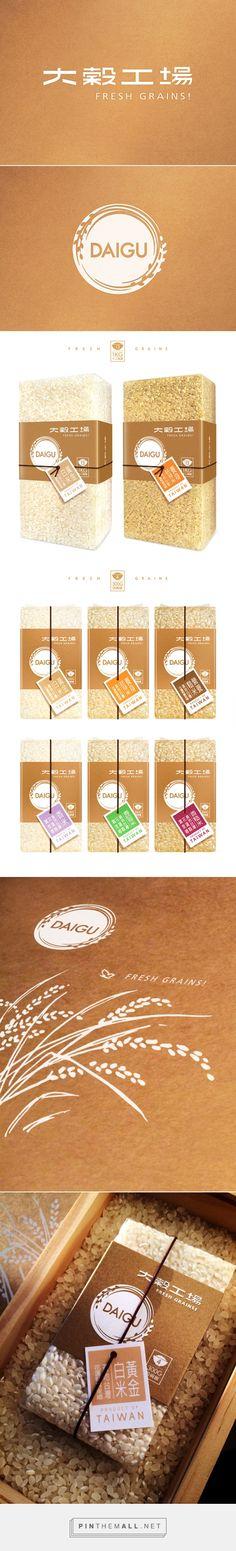 大穀工場 DAIGU FRESH GRAINS! 以米為核心,致力於開創新米文化  on Behance by Akun Kuo curated by Packaging Diva PD.  Beautiful and tasty packaging.