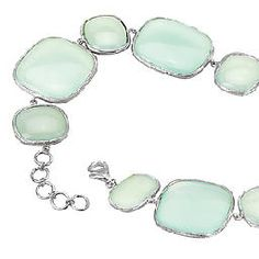Sterling Silver Bracelet with Aqua Chalcedony