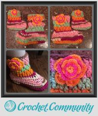 EDITOR'S CHOICE (02/16/2016) Neapolitan Slipper Boots by Alana Judah View details here: http://crochet.community/creations/4206-neapolitan-slipper-boots