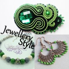 Jewellery Fashion   kolczykomania  Stylizacja biżuteryjna: zielona oaza  Bransoletka : http://kolczykomania.com/produkt/dance-me Kolczyki : http://kolczykomania.com/produkt/korale-kija Broszka : http://kolczykomania.com/produkt/broszka-pie-nero-e-verde-czyli-zielony-...  Autor: Pracownia angeluS