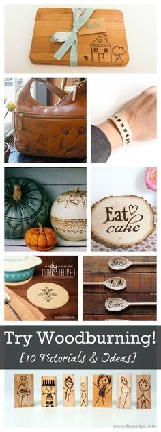 Woodburning Tutorials and Inspiration To Try - lots of creative ideas using a woodburning pen.