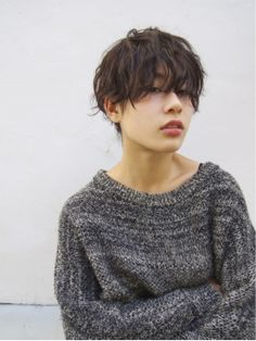 Loose fitting sweater.