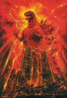 "citystompers: ""Godzilla illustrated by Noriyoshi Ohrai """