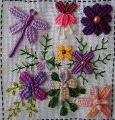 Dimensional embroidery (possibly Brazilian?) Image only - beautiful!