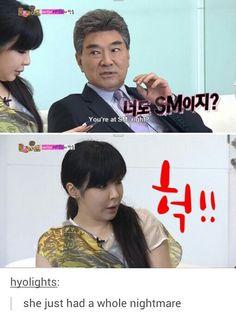 Omg noooo hahaha 2NE1 Park Bom on Roommate     her face is priceless!!