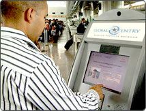 If you have a US Passport and travel frequently then applying for Global Entry is a must.  This program allows you to fast-track through US immigration and customs.  And you don't have to fill out any forms on arrival, just check off some declaration options on the Global Entry terminal screen.  I just wish there was also a way to speed up the arrival of checked bags :).  Recommended.
