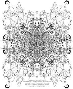 Adult Coloring Page - Rose by BevChoyArt on Etsy