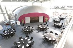 Our wonderful POD Circulation area - cabaret style! Workplace Design, Conference, Centre, Floor Plans, Bustle, Cabaret, Open Floor, Floor Plan Drawing, Work Office Design