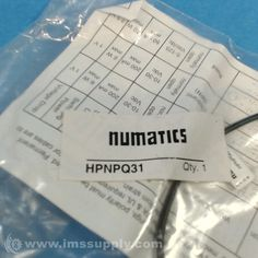 NUMATICS HPNPQ31 SENSOR WITH 8MM CONNECTOR from IMS Supply.