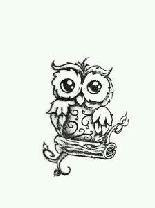 This small owl tattoo would be a great idea for a sister/bestfriend tattoo!! :)
