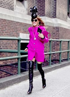 the #FABULOUS Anna Dello Russo at New York Fashion Week