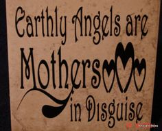 Earthly angels are mothers in disquise  tile by VINYLandBOWS, $9.00