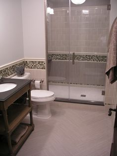 Bring Tile And Border Up To This Height All The Way Around Guest Bath Upstairs