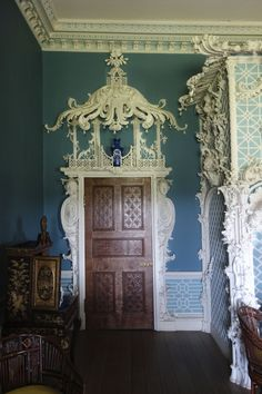 The Chinese Room in Claydon House is the most elaborate Chinoiserie interior surviving in Britain.
