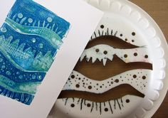 Printing with Gelli Arts®: Gelli™ Printing with Styrofoam Plates One of the advantages of using styrofoam plates is that aside from being easy to cut, you can inscribe marks into it that will show in your print.