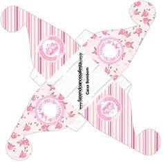 Caixa Bombom Coroa de Princesa Rosa Floral