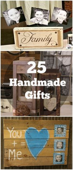 25 Handmade Gifts that are perfect for anything from Christmas Gifts to Birthdays! These easy DIY gift ideas are great gifts for your friends and family! # DIY Gifts for family 25 DIY Handmade Gifts for Every Occasion Diy Gifts Cheap, Easy Handmade Gifts, Handmade Gift For Boyfriend, Handcrafted Gifts, Diy Christmas Gifts For Family, Handmade Christmas Gifts, Navidad Diy, 242, Creative Gifts
