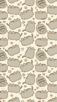 Cat, pusheen, and background image Wallpapers Kawaii, Samsung Wallpapers, Cute Cartoon Wallpapers, Kawaii Wallpaper, Cat Wallpaper, Cute Wallpaper Backgrounds, Wallpaper Iphone Cute, Aesthetic Iphone Wallpaper, Cellphone Wallpaper