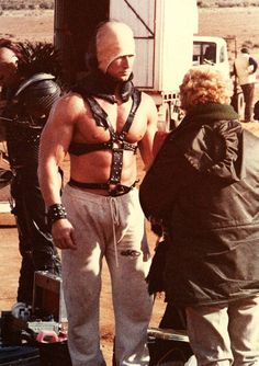Kjell Nilsson as The Humungus behind the scenes on #MadMax 2 (1981).