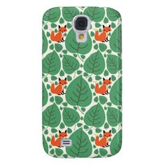 What does the fox say? Retro, rustic chic cute, whimsical woodland hipster fox pattern kawaii Samsung Galaxy S4 case cover. #whatdoesthefoxsay #fox #foxes #samsunggalaxys4 #galaxys4case #galaxys4