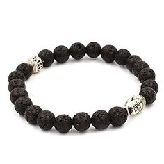 Koky Fashion Lava Stone Beaded Stretch Bracelet with Buddha Head Spacer (silver-plated-base) Koky http://www.amazon.com/dp/B017SRRH9Y/ref=cm_sw_r_pi_dp_Di7Fwb02079KN