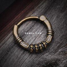 Vintage Rustica Kai Septum Clicker Ring